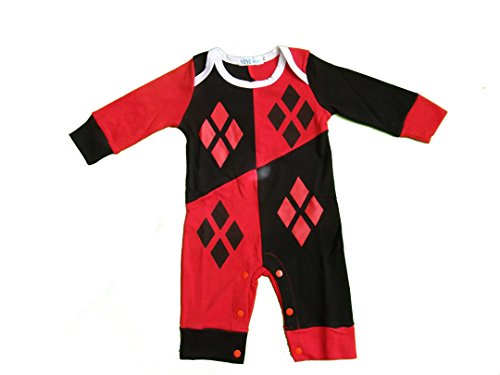 Inspired by DC Comics Baby Mädchen (0-24 Monate) Bekleidungsset Rot Red Black White 6-12 Monate