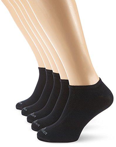 s.Oliver Unisex - Erwachsene Sneakersocke 5 er Pack, S24118, Gr. 39-42, Schwarz (05 black) - Breite Mülltonne Kurze,