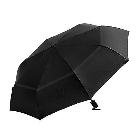 Ohuhu Black Folding Automatic Travel Umbrella Auto Open Close Windproof Compact Rain Umbrella