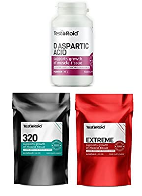 Testoroid Ultimate Muscle Building Testosterone Booster Trio **ultimate Body-building Supplement** Increase Strength & Stamina Build Muscle 1 Month Supply Of All 3 Products Uk Manufactured Simply The Best by TestoRoid
