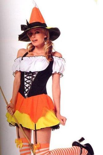 Kandy Korn Hexe Damen large mehrfarbig (Leg Avenue Kostüm Hexe)