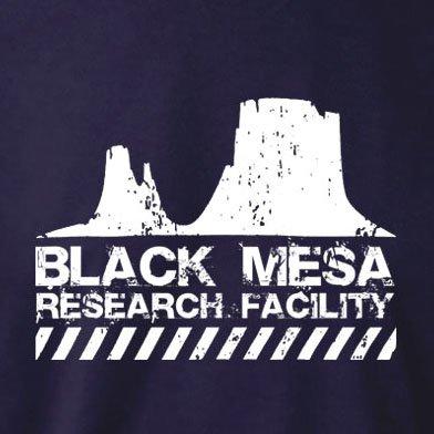 TEXLAB - Black Mesa Research Facility - Damen T-Shirt Dunkelblau