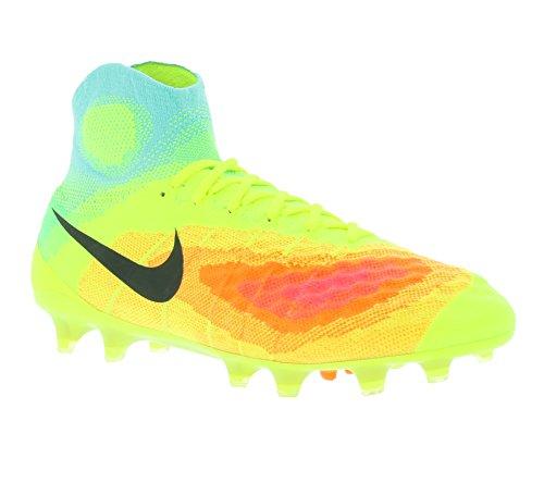 Nike Magista Obra Ii Fg, Chaussures de Football Homme Amarillo (Volt / Black-Total Orange-Pink Blast)