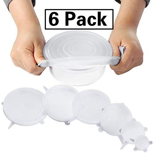SPECIAL SALE Schüssel-Abdeckung Deckel einwickeln Hitzebeständige Schüsseldeckel Sparverpackungen BPA-frei Auslaufsichere Deckel Wrap kann Deckel Haltbare Deckel -