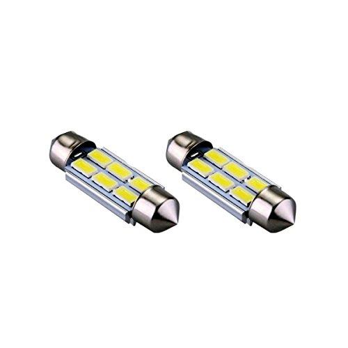 S42C6WK - Bianco Can Bus C5W Festoon Lampade 42mm 6 SMD LED luce targa Illuminazione interna (No Error)