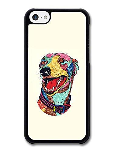 beautiful-colourful-greyhound-dog-illustration-on-cream-background-carcasa-de-iphone-5c