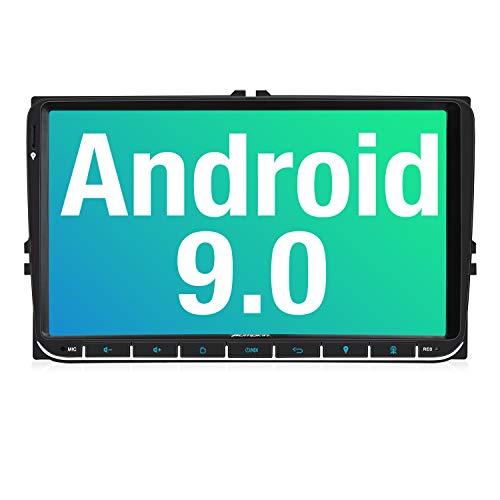 PUMPKIN 9 Zoll Android 9.0 Autoradio für VW Radio mit Navi Unterstützt Bluetooth DAB + USB Android Auto WiFi 4G MicroSD 2 Din