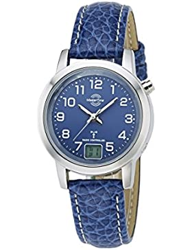 Master Time Funk Basic Series Damenuhr MTLA-10490-32L, Leder Armbanduhr Blau
