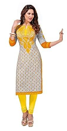 Aarvi Fashion Women's Cotton Kurti (DTAFSAHELI1120_MULTI-COLOURED_Free Size)