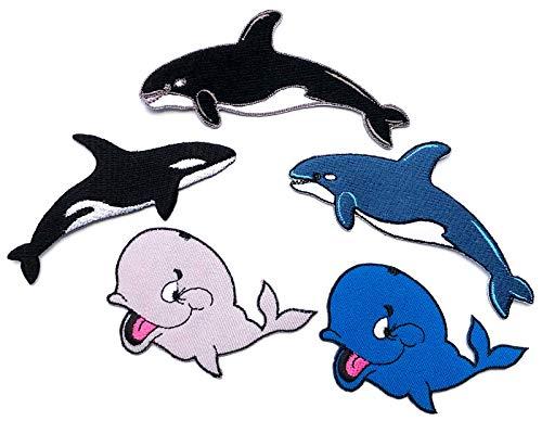 Meer Erwachsene Sweatshirt (i-Patch - Patches - 0189 - Wal - Delfin - Hai-Fisch - Meeres-Fisch - Raub-Fisch - Meer - Aquarium - Tiere - Zoo - Applikation - Aufbügler - Flicken - Aufnäher - Sticker - Badges - Bügelbild - Kinder)