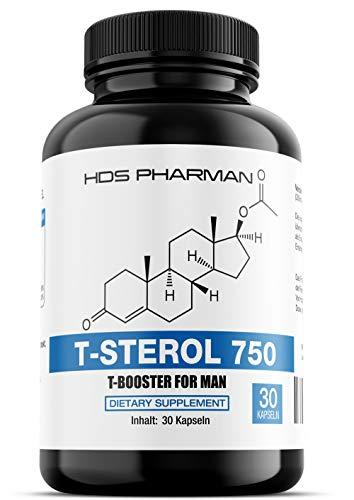 41WQXFBmkwL - T-Sterol 750 - Testo-Booster Komplex/Testosteron Tabletten - Hochdosiert - Muskelaufbau Kapseln Germany