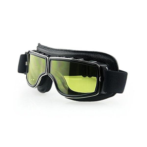 Masque moto Biker Noir et verres jaune 4