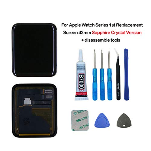 swark LCD Display Compatible with Apple Watch Sapphire Crystal Version Series 1 A1803 (1st Generation) A1554 Screen 42mm LCD Screen and Digitizer Assembly + Tools 42 Lcd-display