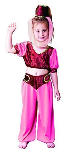 Foxxeo 10089 | Genie Bauchtanz Prinzessin Harem Kostüm für Mädchen, (Halloween Genie Kostüme)