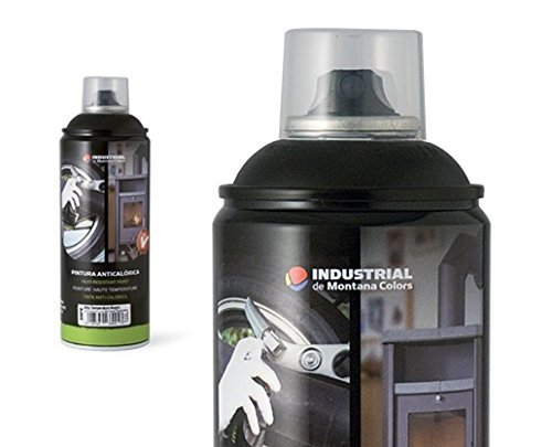 Preisvergleich Produktbild Montana Colors Sprühdose Industrial 600°C High Temperature Paint 400ml black