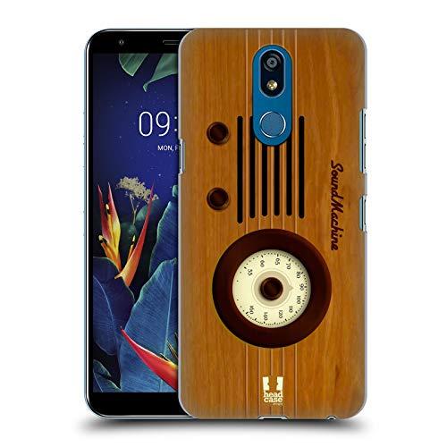 Head Case Designs Klangmaschine Vintage Radio Telefon Harte Rueckseiten Huelle kompatibel mit LG K40 / K12 Plus -