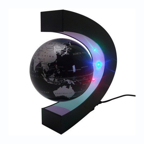 C-forma-LED-levitacin-magntica-bola-flotante-Globo-flotante-Mundial-de-regalo-del-mapa