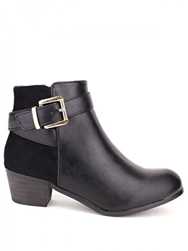 Cendriyon, Bottine Noire DILAMANA Mode Chaussures Femme Noir