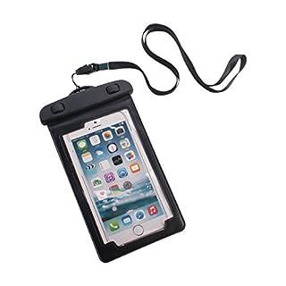 Advantus Wasserdicht Tasche für Handys, inkl. Armband/Schlüsselband, 8,3x 14,6cm schwarz, 5/Pack (91137)