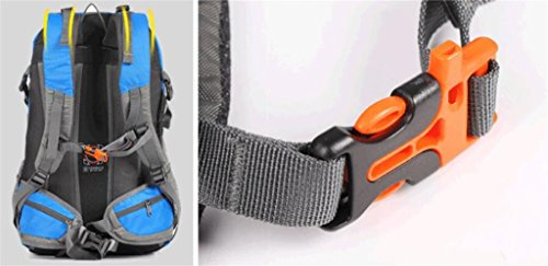 Outdoor-Freizeit Sporttasche Männer und Frauen Bergsteigen Tasche mit großer Kapazität Beutel-Spielraum-Rucksack Gelb