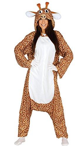 Giraffe Kostüm Mann - Giraffenkostüm für Damen und Herren Giraffe Tierkostüm Afrika Tier Zoo Gr. M - L, Größe:L