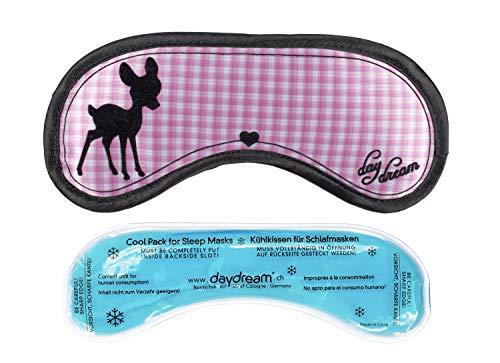 daydream Schlafmaske Frauen & Herren - Schlafbrille und Augenmaske inkl.  gratis Kühlkissen, Bambi -