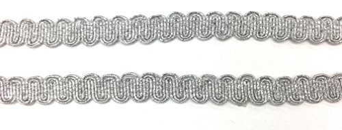Silber Metallic Radzierblenden, Scallop, ric rac Besätze 5Meter -