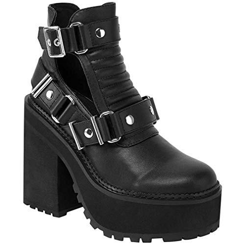 Killstar - Zapatos de Vestir de Sintético para Mujer Negro Negro One Size, Color Negro, Talla 40 EU