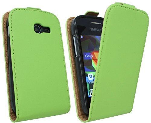 ENERGMiX Handytasche Flip Style kompatibel mit Samsung Galaxy Pocket 2 G110HN in Grün Klapptasche Hülle
