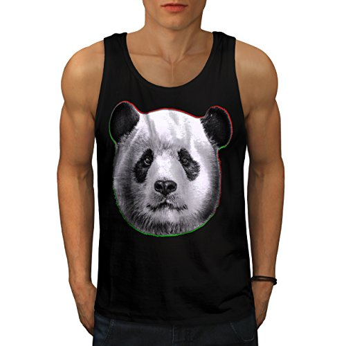 cracked-wood-panda-timber-style-men-new-black-l-tank-top-wellcoda