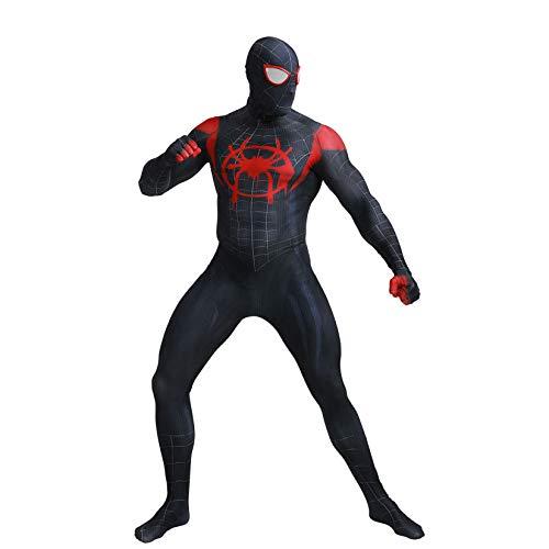 Spider-Man Kleine Schwarze Spinne Digitaldruck Siamesische Strumpfhose Avengers Kostüm Halloween Character Dress Set (Kopfbedeckung Kann Getrennt ()