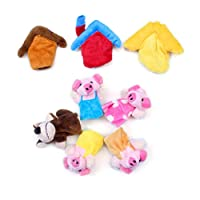 Preschool Kids Finger Puppets Funny Plush Dolls Family Story Children Baby Games Three Pigs Pack Of 8