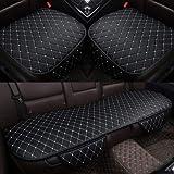 LQW HOME Sitzbezügesets Auto-Sitzabdeckungs-Kissen Vorne Hinten Rücksitz-Sitzabdeckung Auto Stuhl-Sitz-Schutz-Matten-Auflage-Innenausstattung (Color : Black with White)