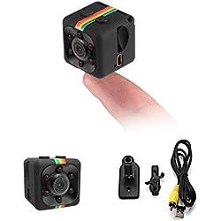 ARCELI Cámara espía,cámara Oculta Mini cámara HD 1080P / 720P Cámara espía inalámbrica Detección de Movimiento de visión Nocturna portátil pequeña para hogar, automóvil, avión no tripulado