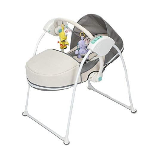 Rocking chair Fauteuil à Bascule Health UK pour bébé électrique et résistant au Froid, Nettoyage Pliable, 5 Vitesses, inclinable réglable