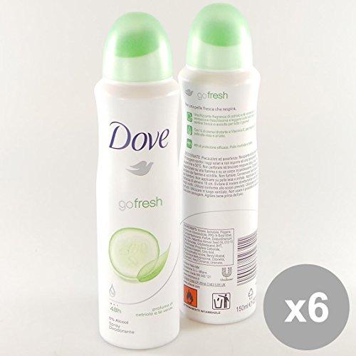 Set 6 DOVE Deodorante Spray 150 Cetriolo/Te Verde Go Fresh - Cura del Corpo