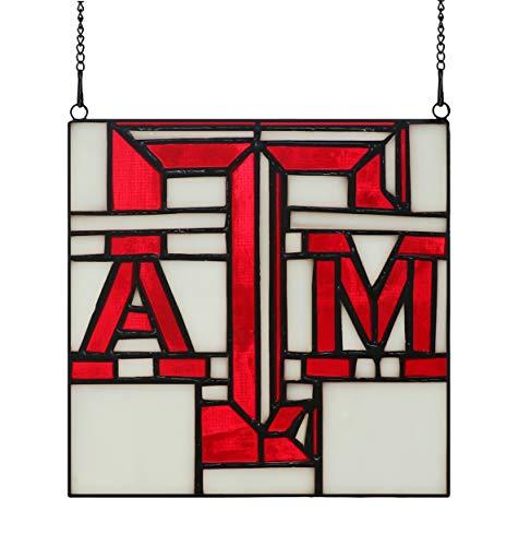 Glasornament für Fenster, NCAA Texas A & M Logo, Sonnenfänger, ATM-Schild, 15,2 x 15,2 cm Texas A&m University Atm