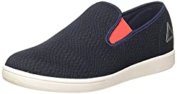 Reebok Mens Tread Smooth Navy/Glow Red/Metsil/Wht Loafers and Moccasins - 6 UK/India (39 EU) (7 US)