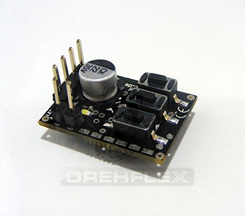 Preisvergleich Produktbild Drehflex® Universal 2-Kanal LED Rundumlicht Leuchtturm Simulation Micro Blitz Modul 7-30V mit Anschlusskabel (Modell B4)