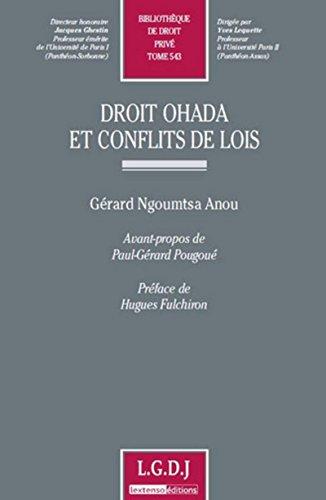 Droit OHADA et conflits de lois Tome 543