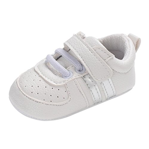 Preisvergleich Produktbild Sannysis Jungen Mädchen Soft Newborn Anti-Rutsch-Baby Sportschuhe Atmungsaktiv Laufschuhe Hallenschuhe Freizeit Turnschuhe für Kinder (11,  Silber-1)