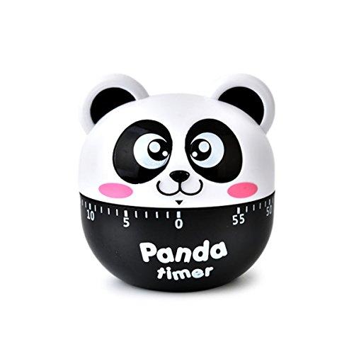 Tier Panda Kochen Timer Mechanische Küche Eieruhr Gekochtes Ei Timer für Study Teaching Games (Schwarz) ()
