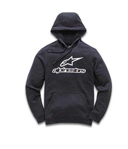 Logo Fleece Pullover (Alpinestars Herren Always Logo Pullover Hoodie Classic fit Fleece, Black/White, XL)
