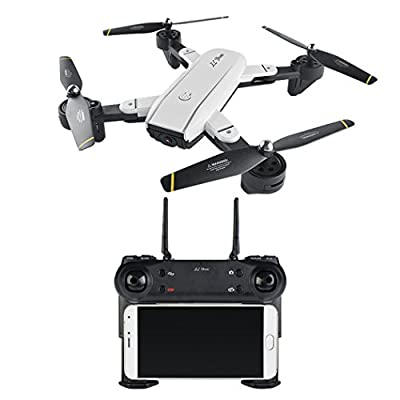GreatestPAK 2.0MP Optical Flow Dual HD Camera RC Drone,SG700 Quadcopter Foldable Drone 2.4Ghz 4 CH 360° Hold WiFi Phone Control Gesture Photographing Optical Flow Positioning Follows Gift by GreatestPAK