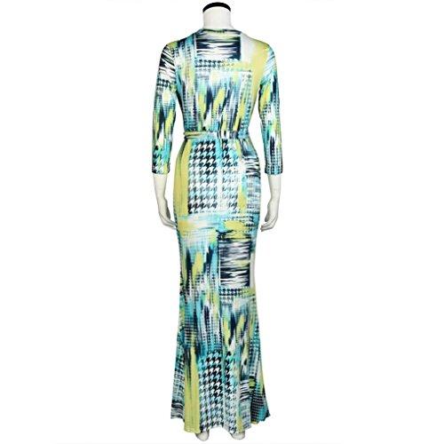 Robe de cocktailRobe de soir¨¦e Femmes Sexy Impression Paquet Slim manches longues Hip Party Dress Vert