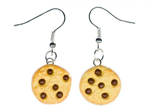 Keks Chocolate Drops Ohrringe Hänger Miniblings Weihnachten Cookie Handarbeit