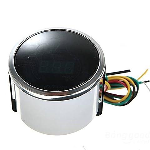 mark8shop Air Fuel Ratio AFR Volt Blau Digital LED Combo Messgerät Smoke Gesicht