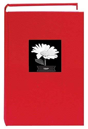 TSVP Stoff Rahmen Cover Foto Album 300Taschen Halt 4x 6Fotos, Apple Rot