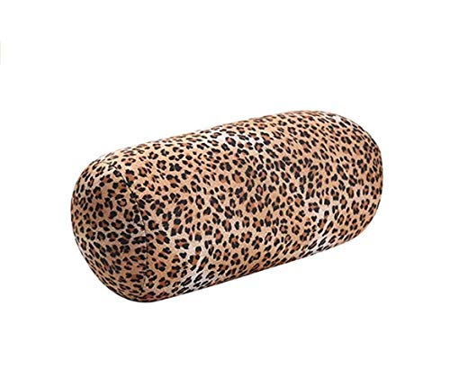 Dada Reisekissen mit Mikroperlen, Nackenkissen, Schlafmassage, Rückenstütze und Komfort für Kopf, Nacken, Arme, Beine, Handgelenke und unteren Rücken, ideal für Stressabbau Leopard - Dado Kopf