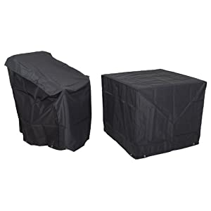 Azuma Heavy Duty Waterproof Protective Furniture Cover To Fit Modena Dining Set Black 100% Waterproof For Table And 4…